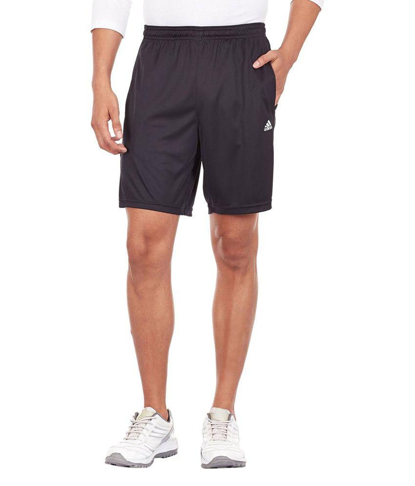 Adidas Black Men's Polyester Shorts