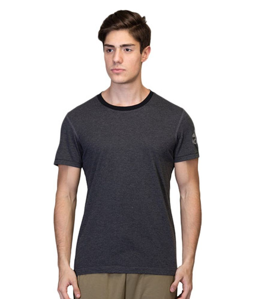 Adidas Black Men's Polyester T-shirt