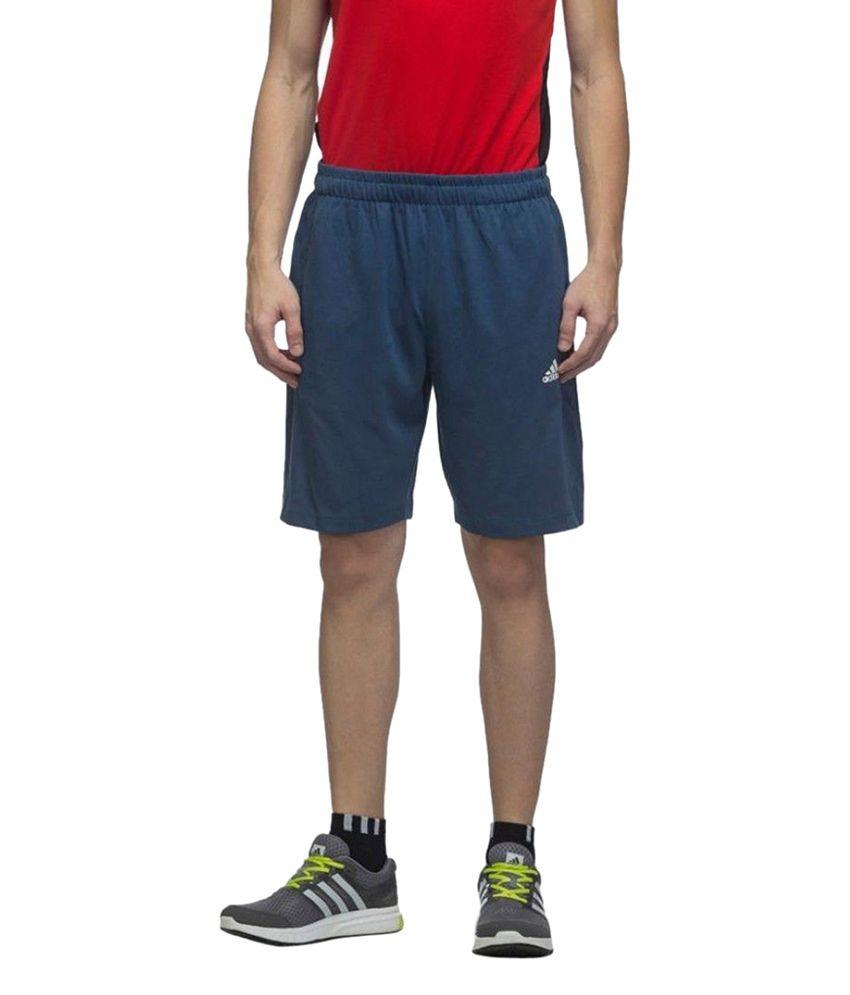 Adidas Blue Men's Training Essential Short