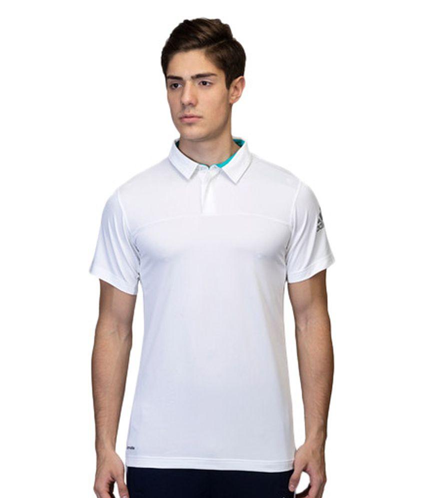 Adidas White Men's Tennis Ace Polo Tee
