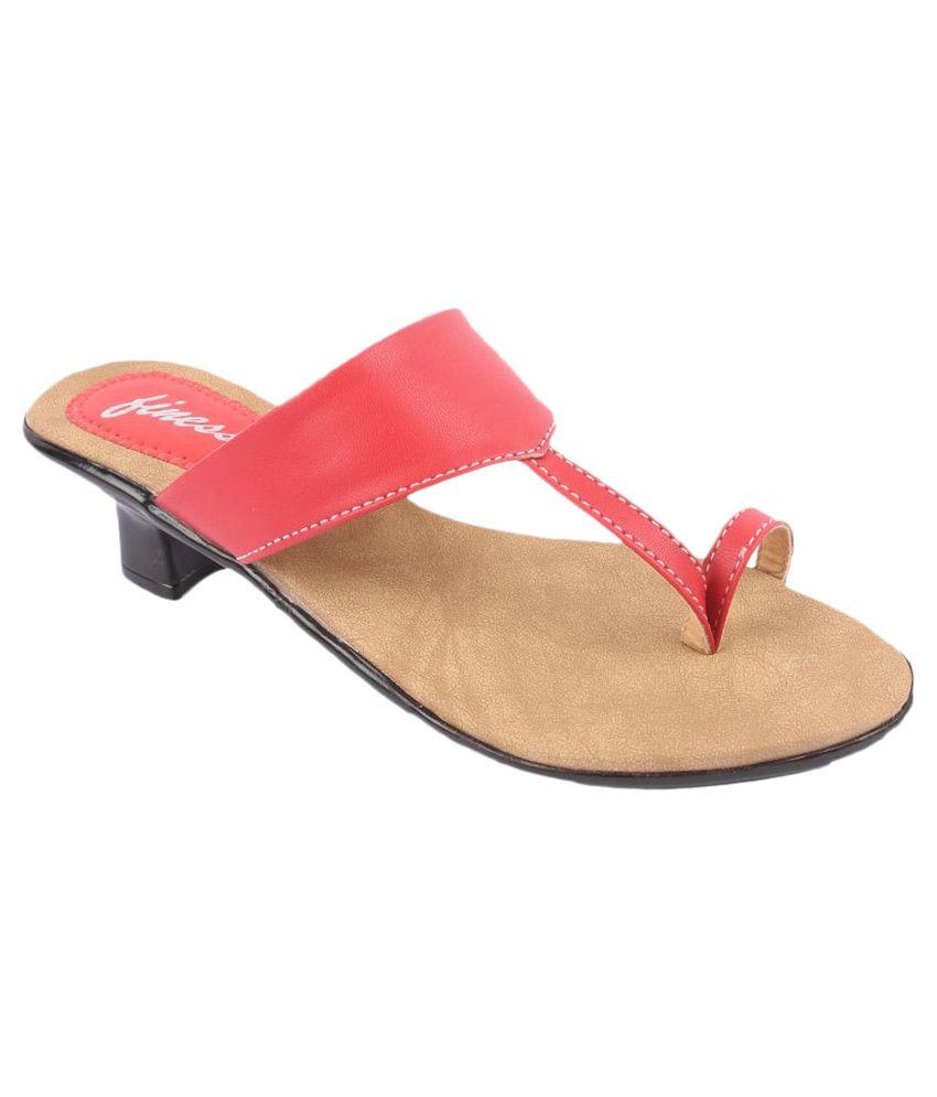 Finesse Red Block Heels