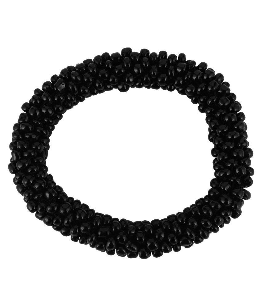 Beadworks Black Glass Colour spark Bracelet