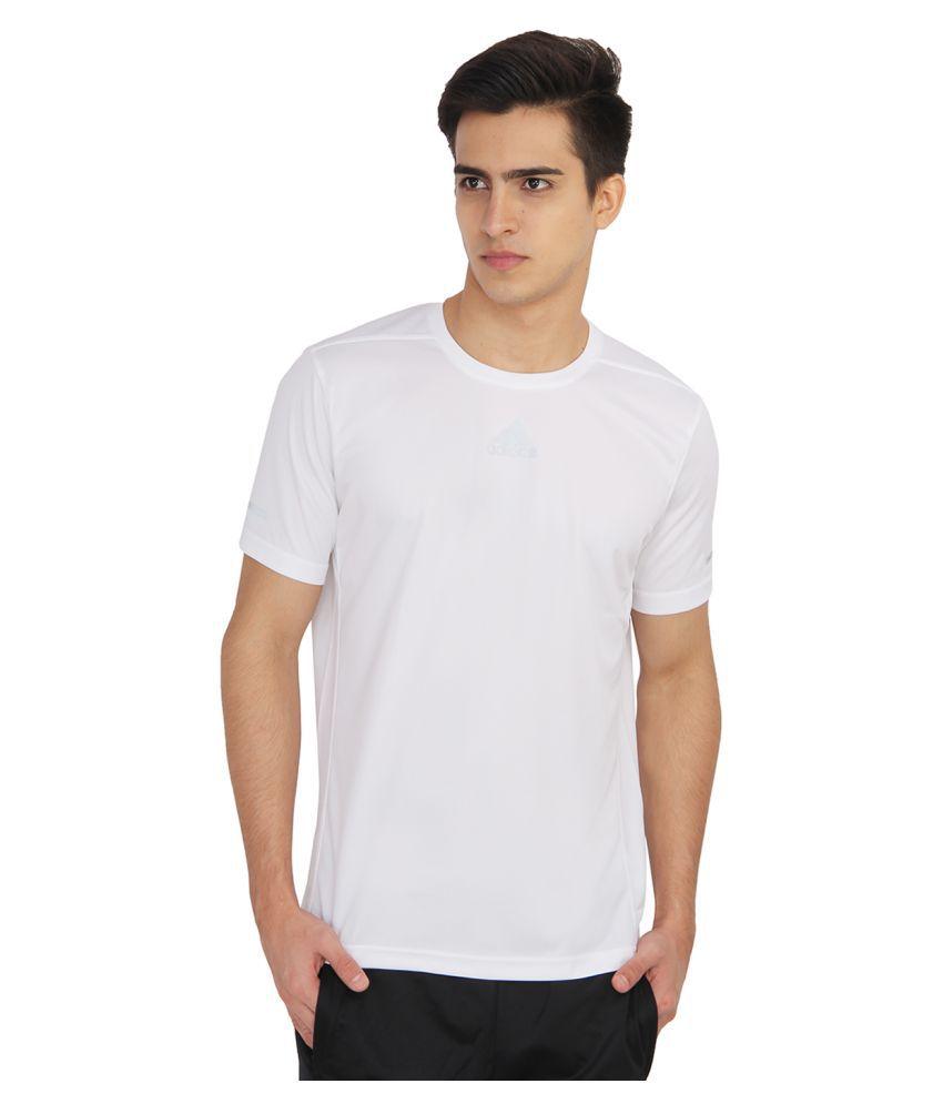Adidas White Round T-Shirt