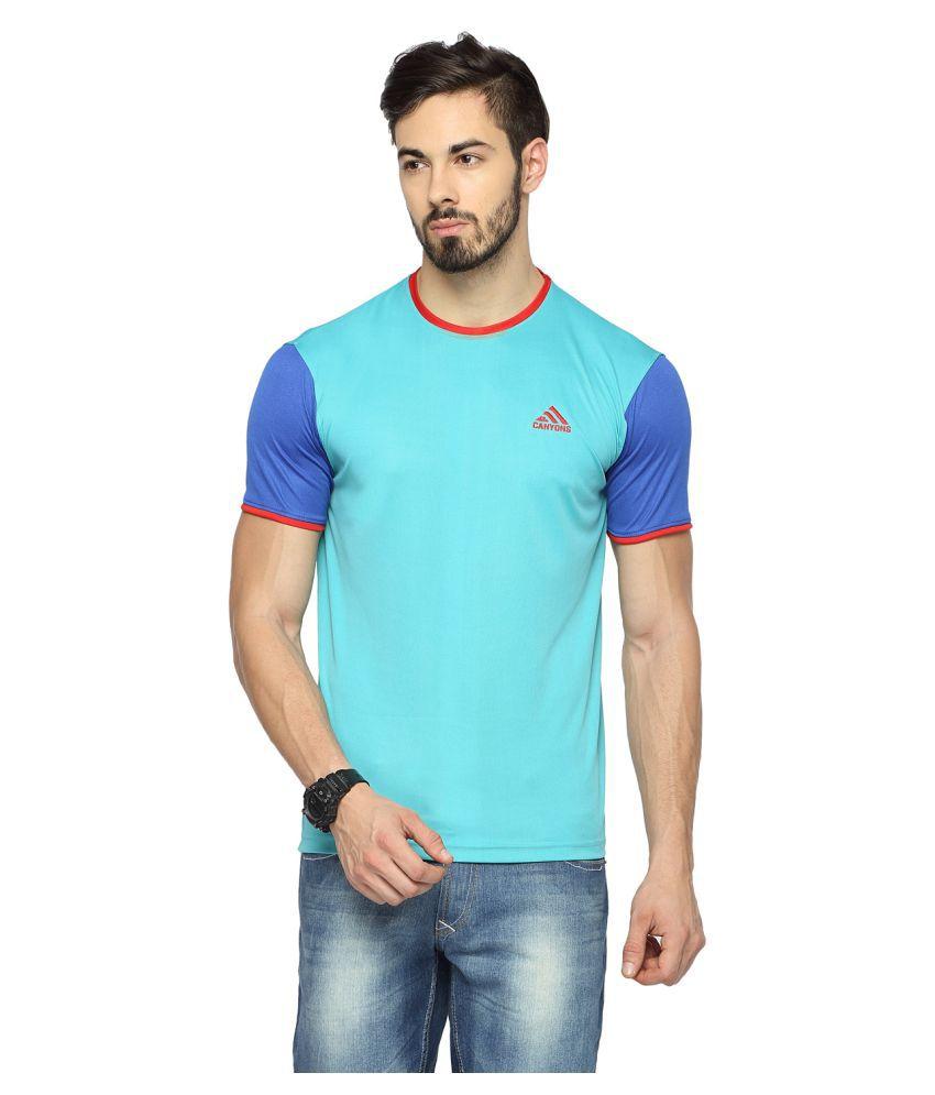 Canyons Turquoise Round T-Shirt