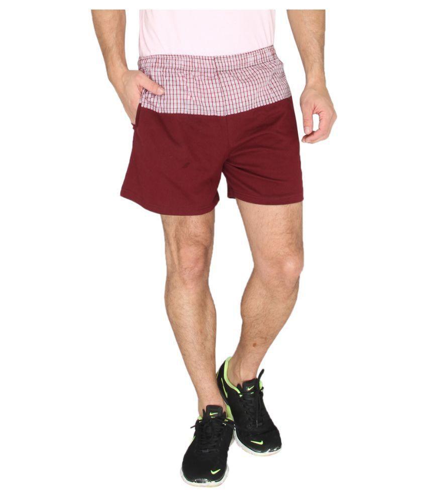 LUCfashion Maroon Shorts