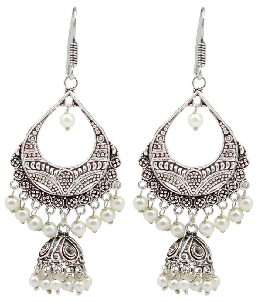 Frabjous Silver Designer Earrings