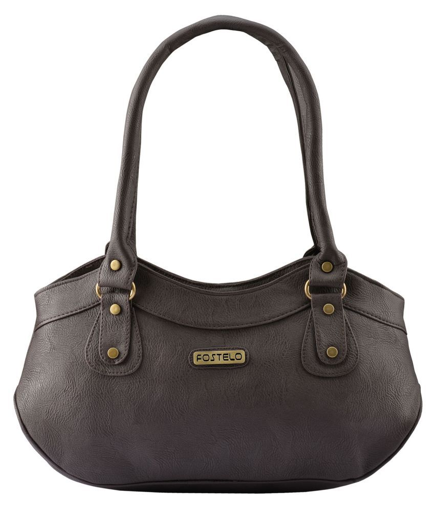 169ce87c2 Fostelo Brown Faux Leather Shoulder Bag available at SnapDeal for Rs.649