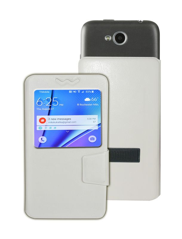 Karbonn A19 Flip Cover by Corcepts - White