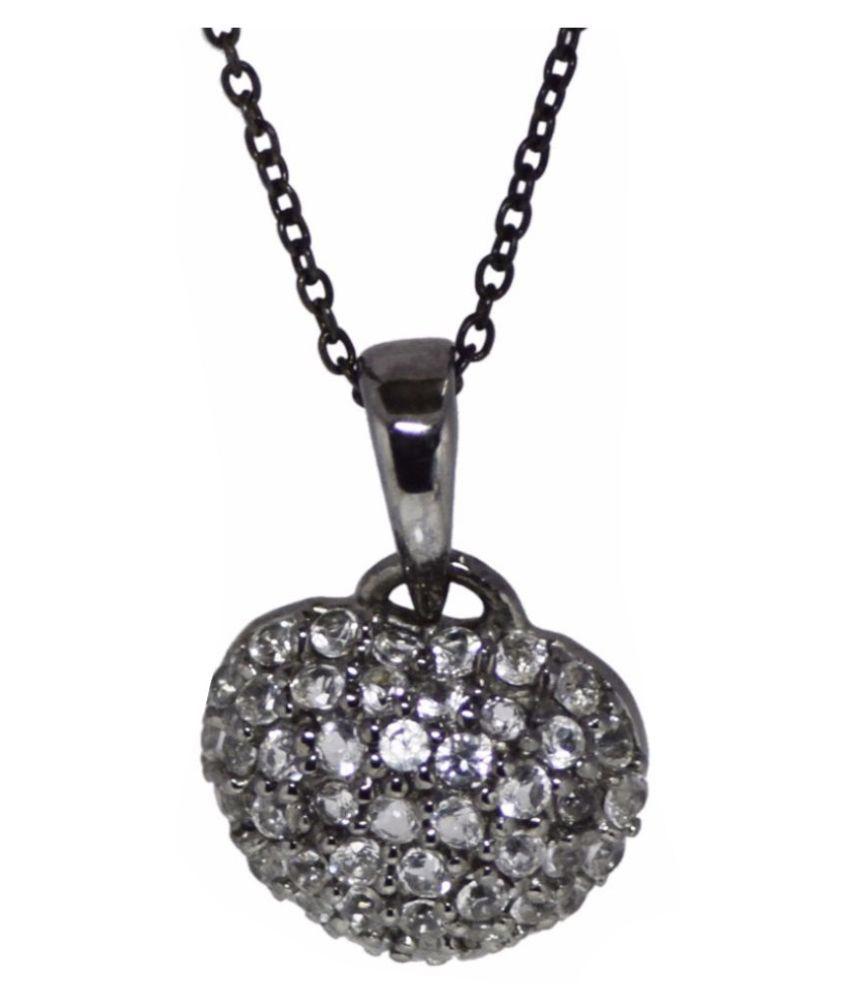 Shine Jewel 92.5 Silver Topaz Pendant Necklace