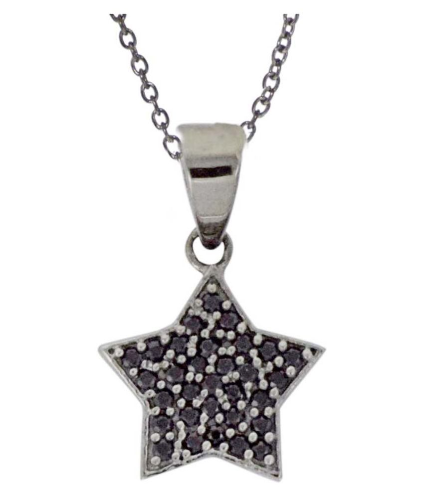 Shine Jewel 92.5 Silver Spinel Pendant Necklace