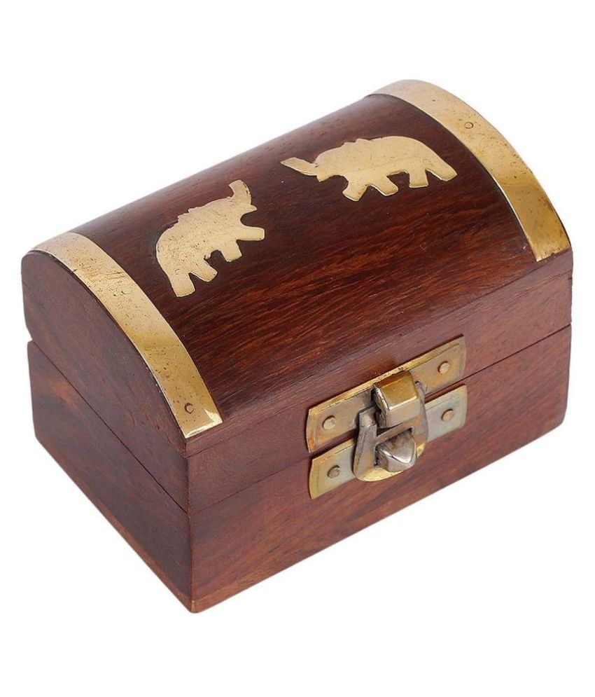 N-Decor Brown Wooden Jewellery Box