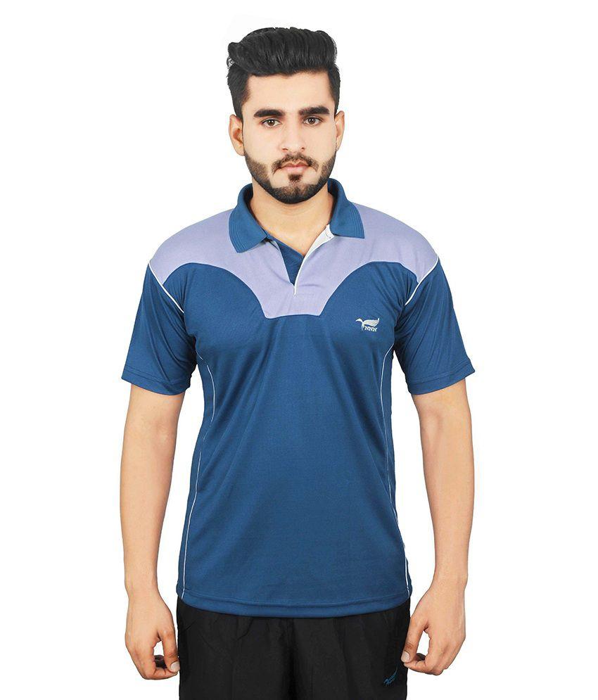 NNN Blue Polyester Polo T-Shirt
