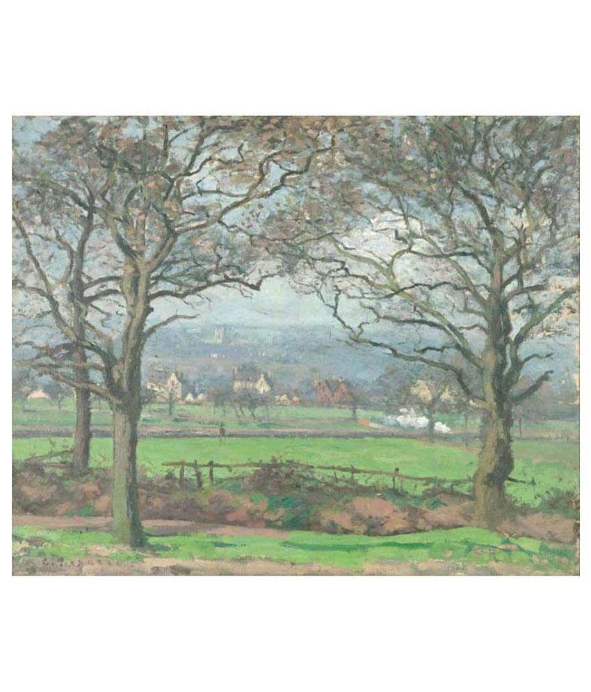 Tallenge Textured Near Sydenham Hill by Camille Pissarro Canvas Art Print