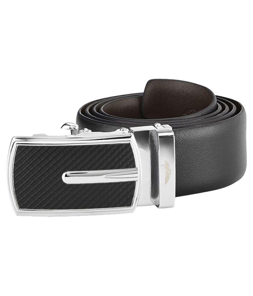 Park Avenue Black Reversible Leather Belt