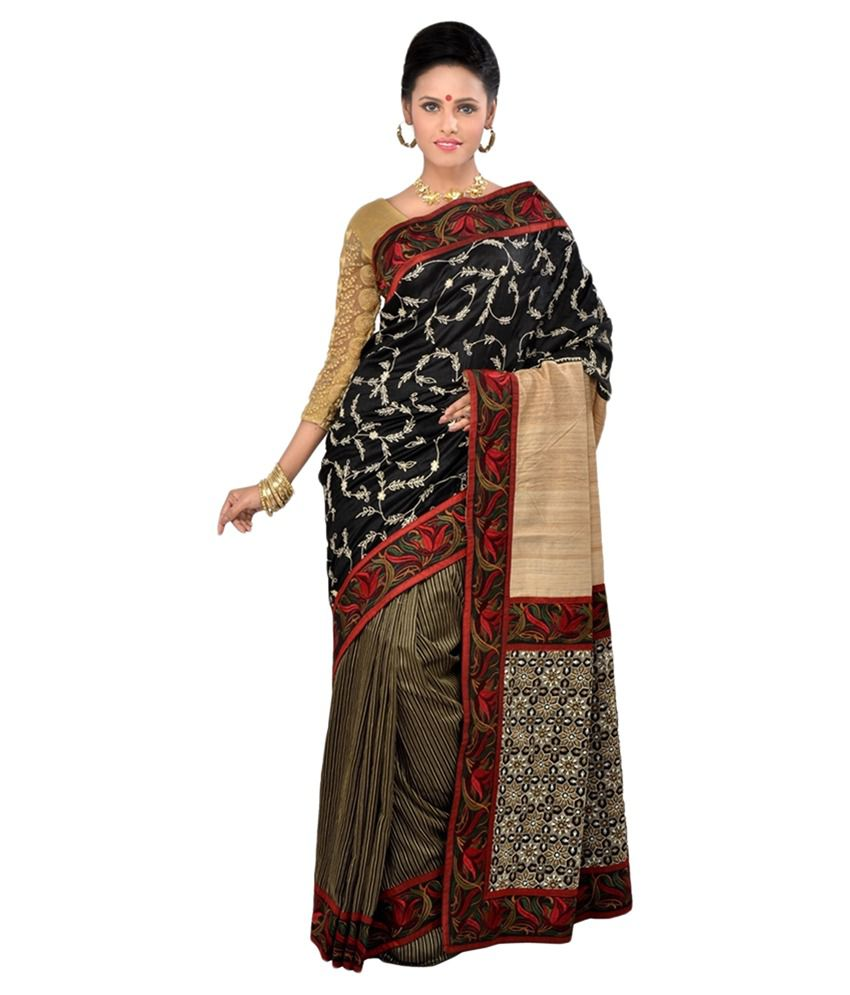 34e1816eb59 RB Sarees Brown and Beige Silk Saree - Buy RB Sarees Brown and Beige Silk  Saree Online at Low Price - Snapdeal.com
