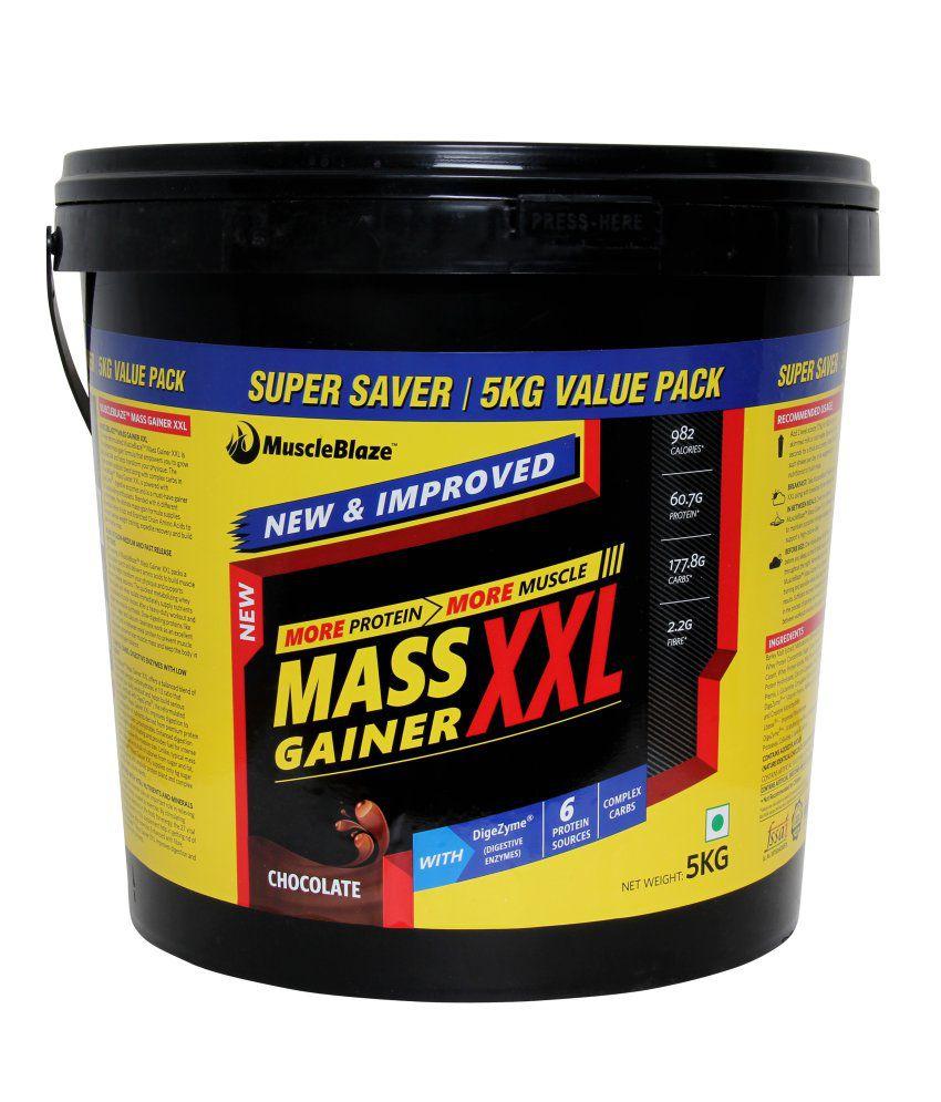 MuscleBlaze Mass Gainer XXL 11 lb/ 5 kg, 66 Servings ...
