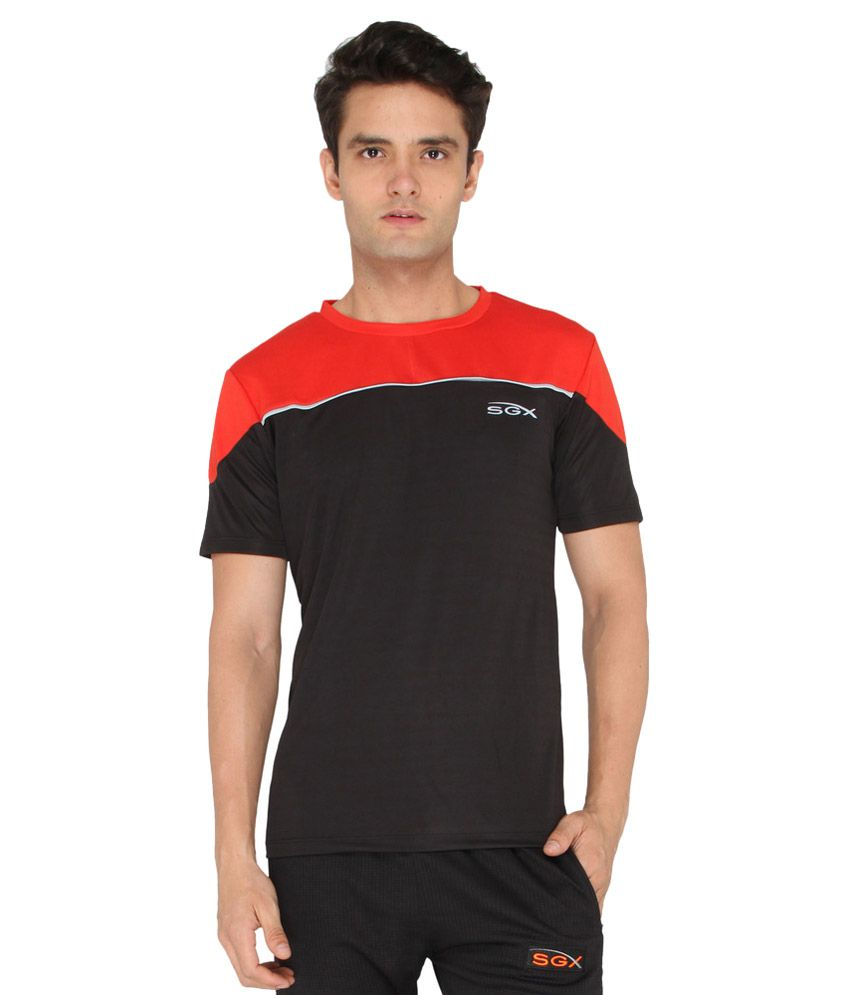 SGX Black Polyester Cotton T-Shirt