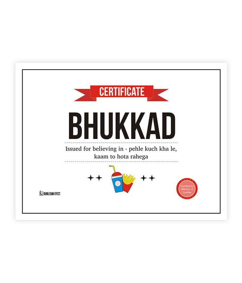 buy certificate paper online india