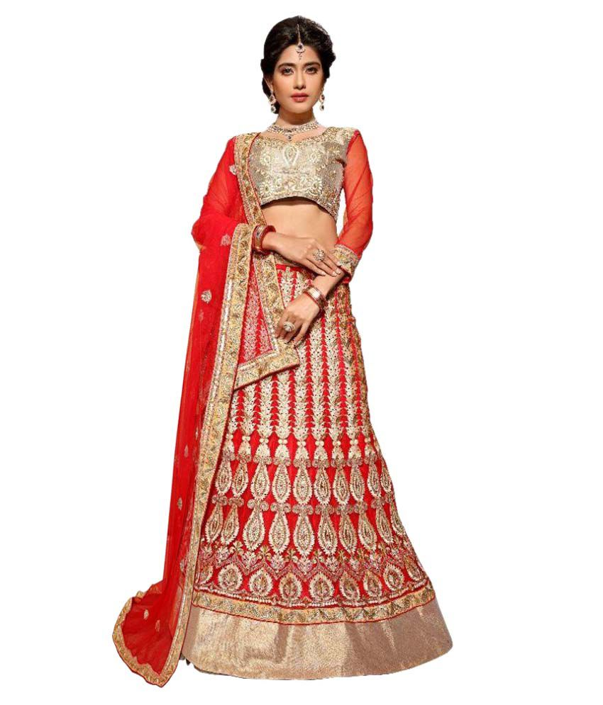 9a24291ad2d Aasvaa Red and Beige Net A-line Semi Stitched Lehenga - Buy Aasvaa Red and  Beige Net A-line Semi Stitched Lehenga Online at Best Prices in India on  Snapdeal