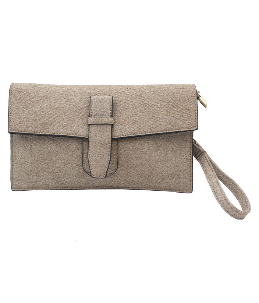 Kushi Khaki Faux Leather Sling Bag