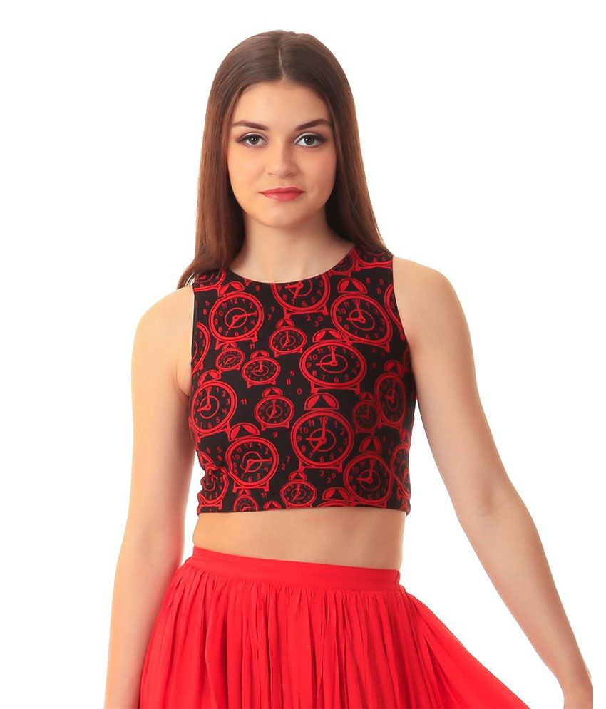 b85eefd0e6 Scorpius Black Net Crop Tops - Buy Scorpius Black Net Crop Tops Online at Best  Prices in India on Snapdeal