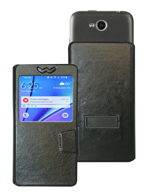 Micromax Canvas Juice 2 Flip Cover by Corcepts - Black