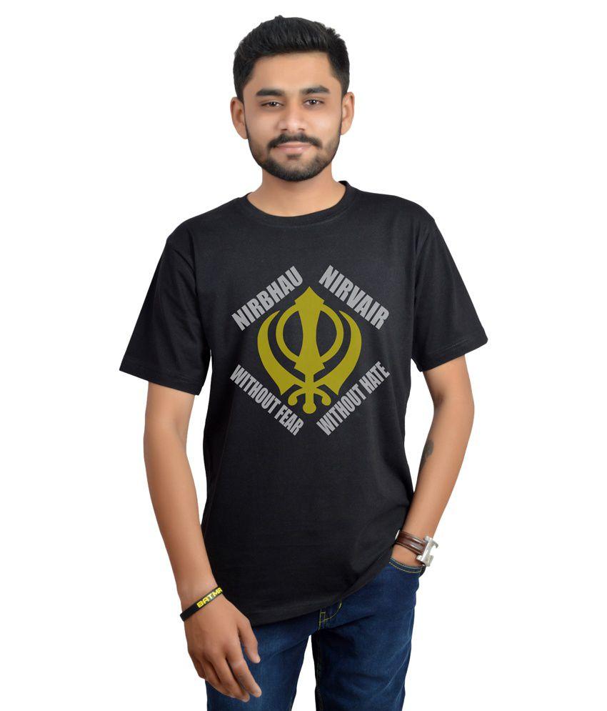 Swag Theory Black Round T-Shirt