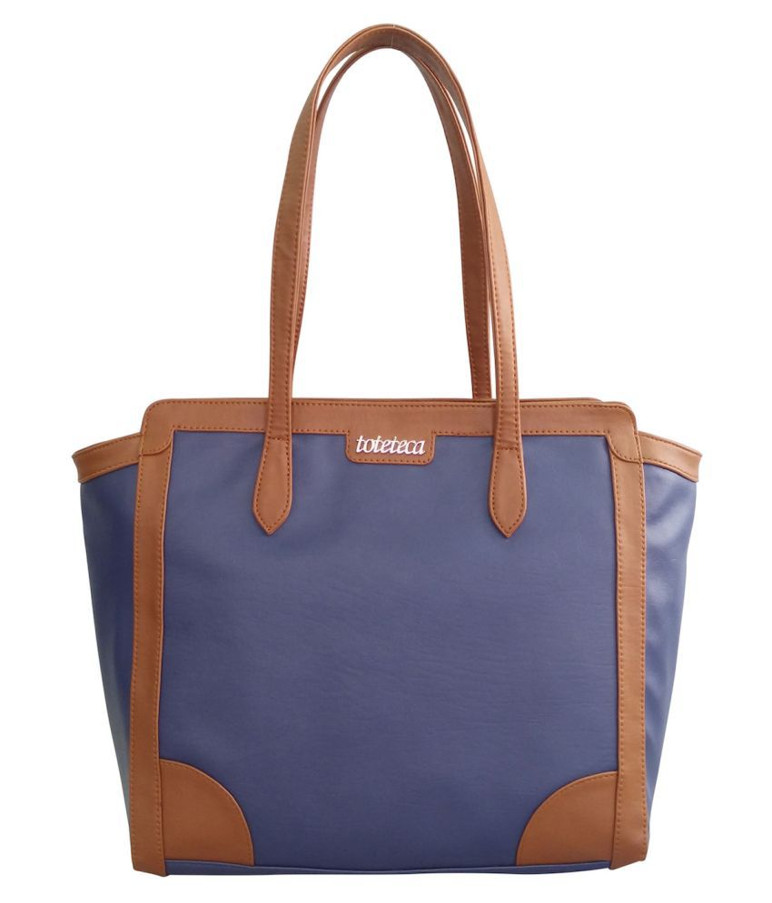 Toteteca Bag Works Blue Faux Leather Shoulder Bag