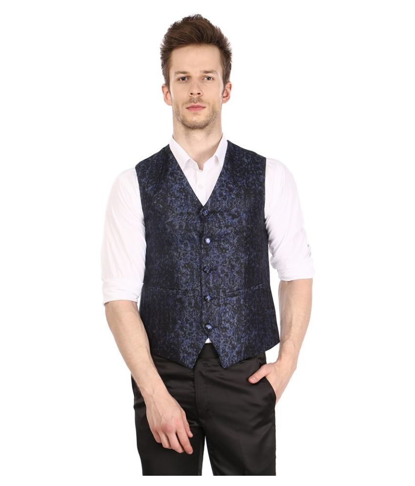 Platinum Studio Navy Party Waistcoats