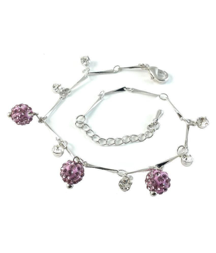 Ammvi Creations Silver Anklet