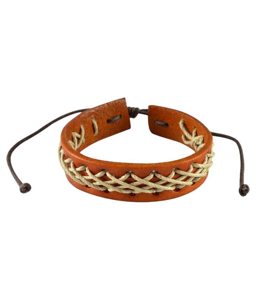 Sarah Brown Leather Bracelet for Men