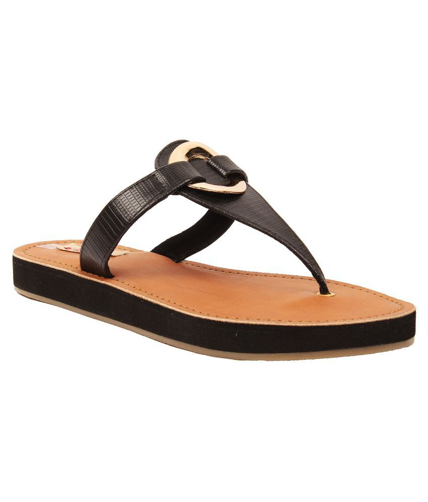 Foot Candy Black Flats