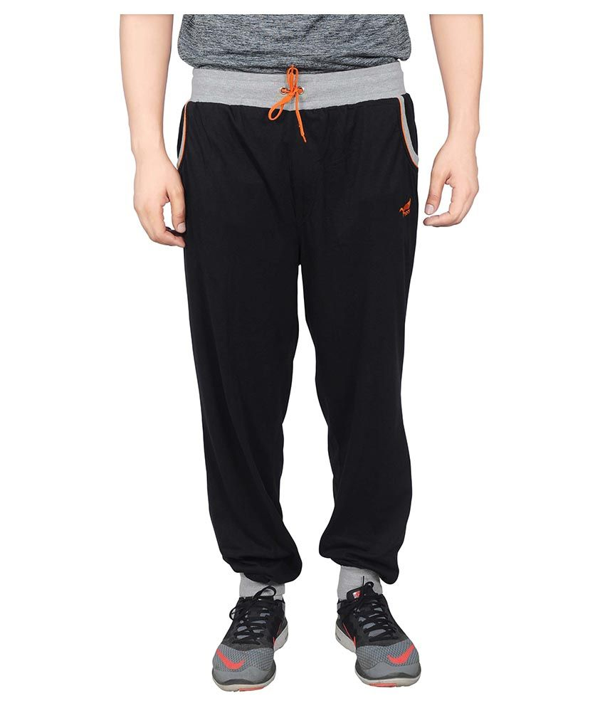 NNN Black Cotton Trackpant