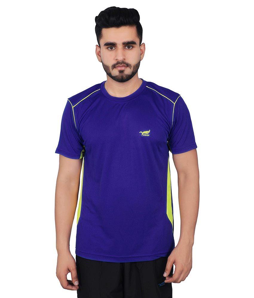 NNN Blue Polyester T Shirt