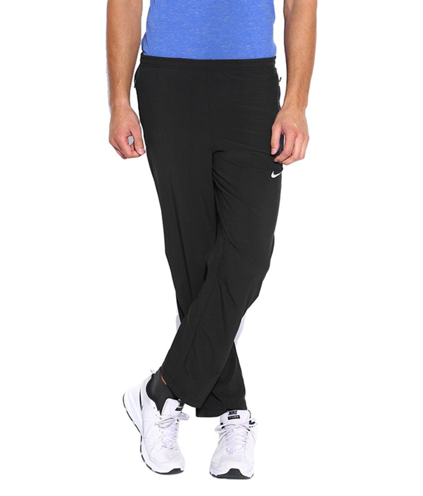 Nike Black AS Dry-FiT Stretch Woven Running Track Pant for Men