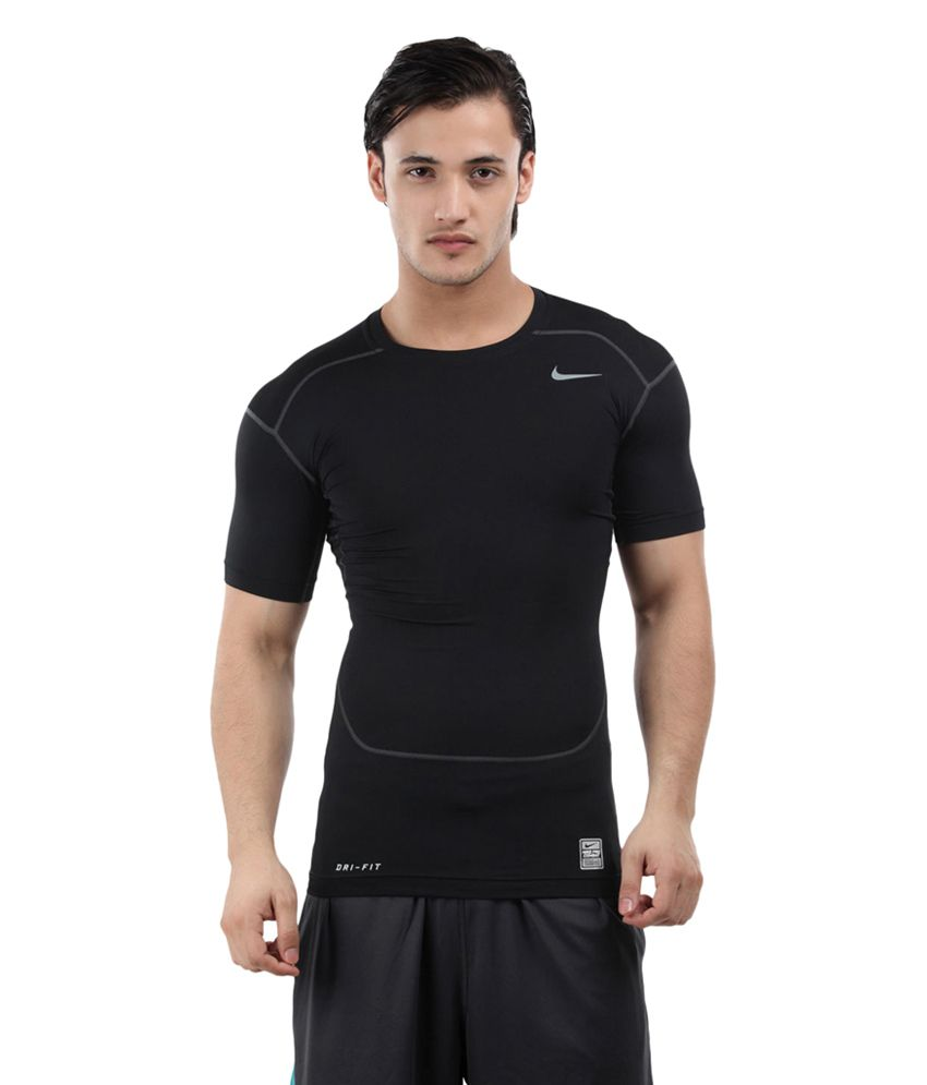 Nike Black Core Compression T-Shirt for Men