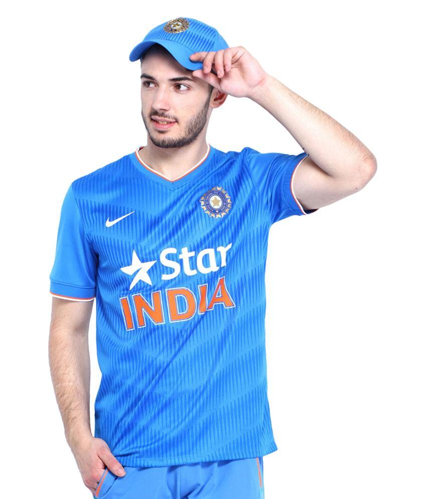 Nike Men Blue ODI SS Fan T-Shirt