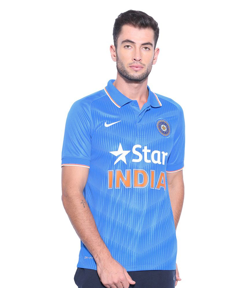 Nike Men Blue ODI SS Stadium Jersey