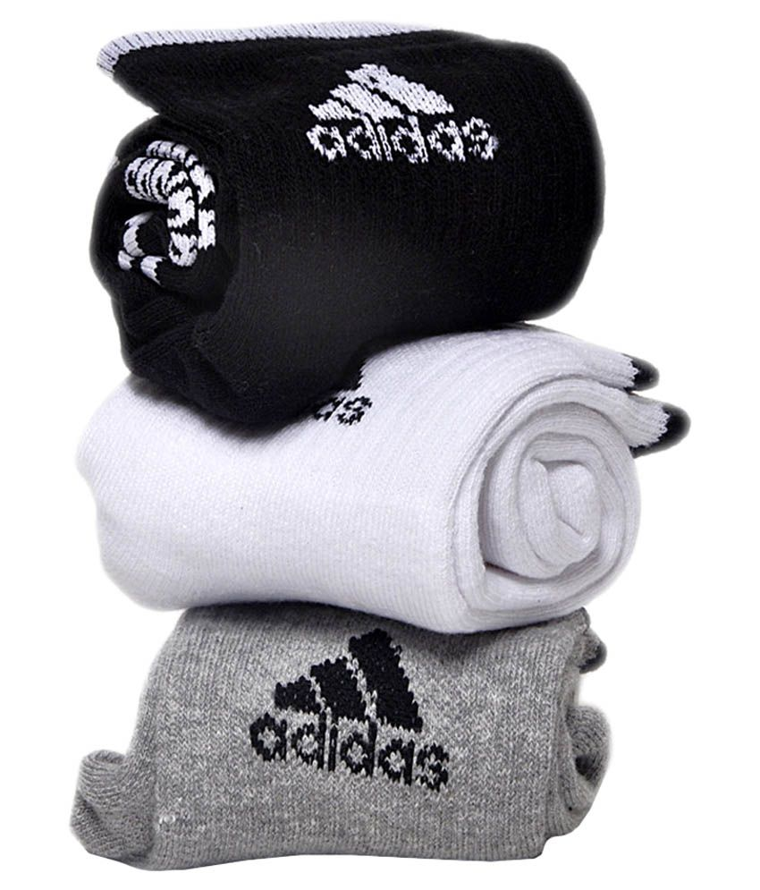 Adidas Multicolour Cotton Ankle Length Socks - Set of 3