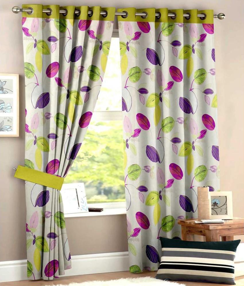 Homec Set of 2 Window Eyelet Curtain