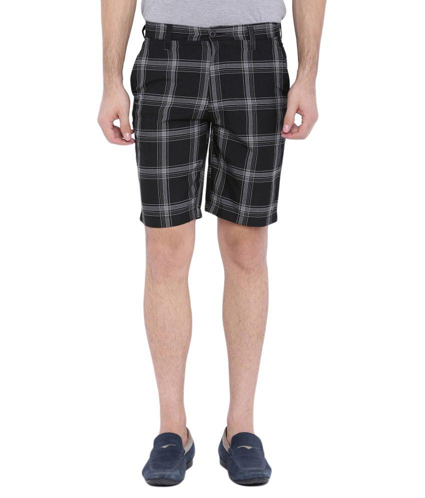 Blue Wave Black Shorts