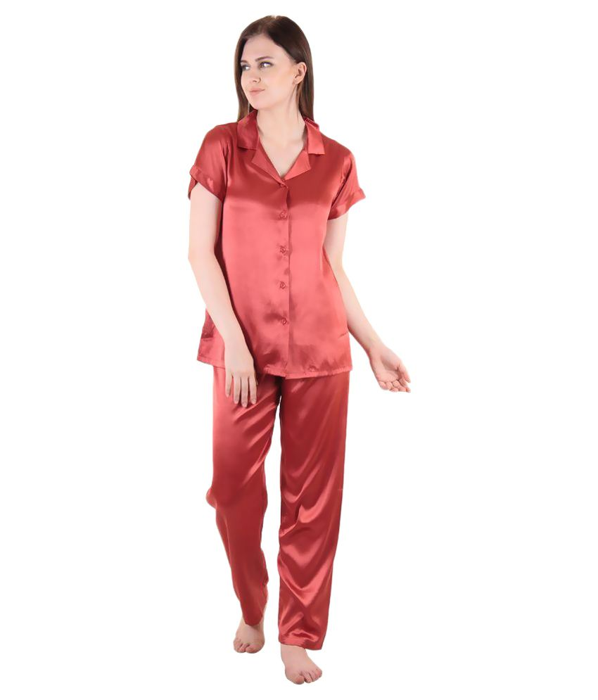 8ce4a3b3191 Buy Private Lives Red Satin Nightsuit Sets Online at Best Prices in India -  Snapdeal