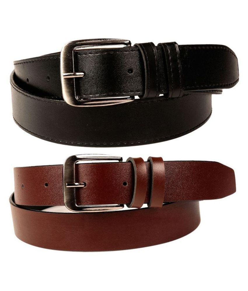 Sandisk Black Faux Leather Formal Belts