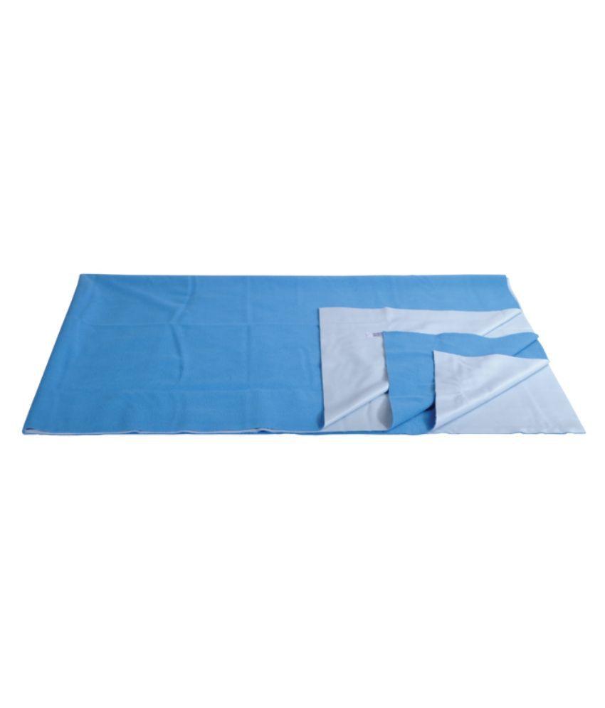 Mee Mee Blue Cotton Solid Mattress ( 30 cm × 10 cm)