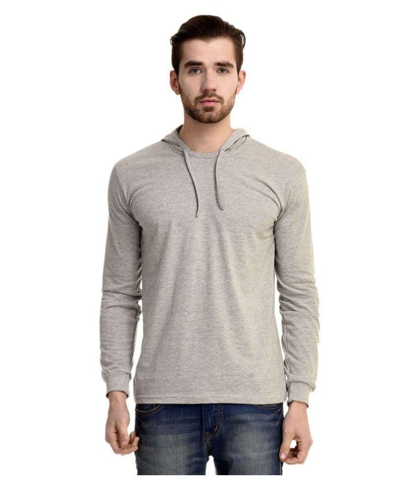 Mimoda Grey Hooded T Shirt