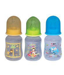 Mee Mee Baby Feeding Bottle_125ml_Blue/Yellow_Pk-3