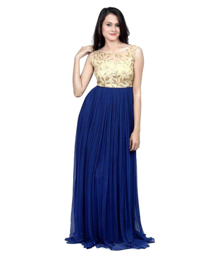 GB Blue Georgette Maxi
