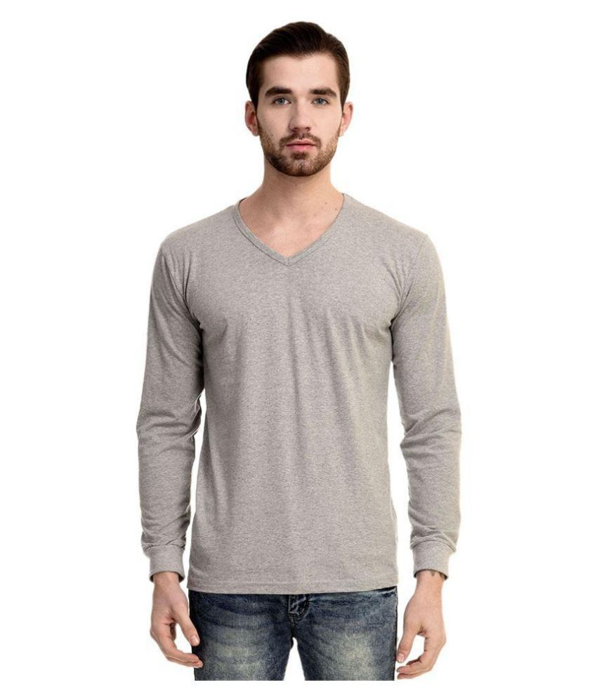Mimoda Grey V-Neck T Shirt