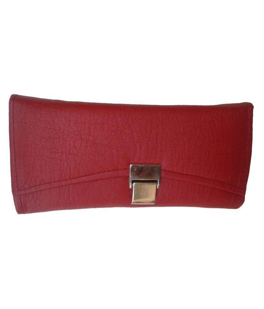 Goldeno Red Handbags & Clutches