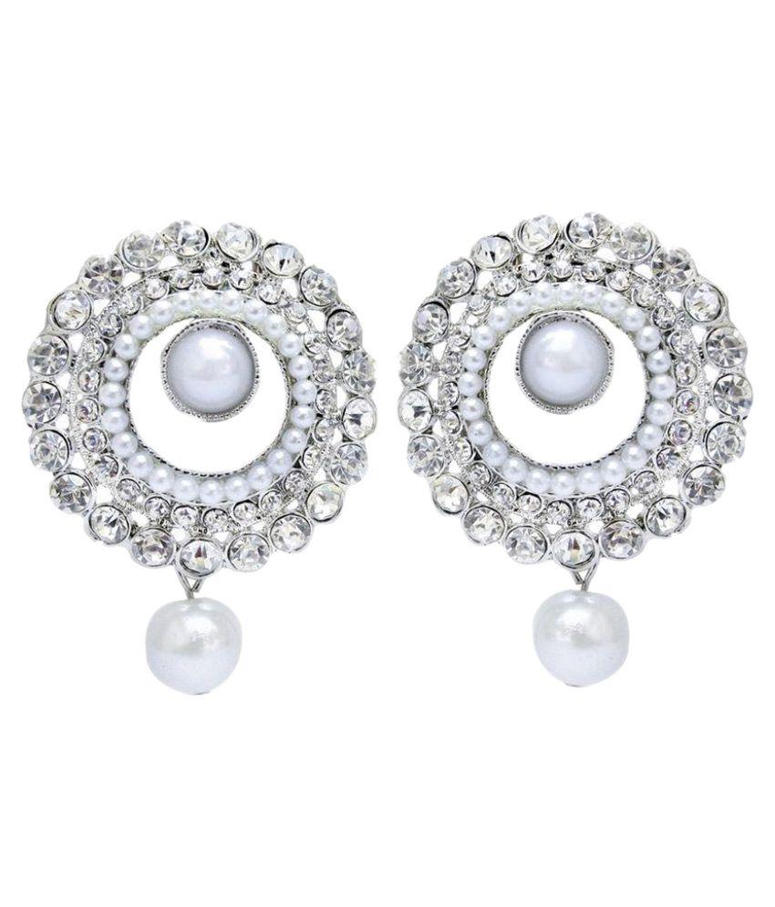 Jewels Guru Silver Designer Earrings
